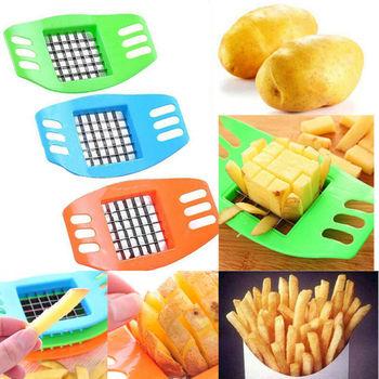 Cortador multifunción de patatas fritas, cortador de patatas fritas, cortador para fruta y verdura, cortador de lámina cortadora, utensilios de cocina fáciles, 1 Uds.