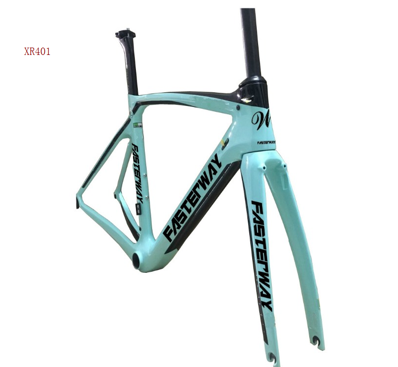 fasterway XR4 taiwan made <font><b>carbon</b></font> <font><b>frame</b></font> <font><b>road</b></font> bike <font><b>T1100</b></font> UD <font><b>carbon</b></font> bicycle frameset:<font><b>carbon</b></font> Frameset+Seatpost+Fork+Clamp+Headset image