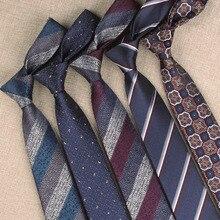 Nowe klasyczne stylowe męskie krawaty krawaty 7cm w kratę w paski krawaty dla mężczyzn formalne biznesowe luksusowe krawaty na wesele