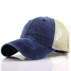 Image 2 - Lato Mesh czapka z daszkiem mężczyzna kobiet Snapback czapki Hip Hop stałe dorywczo czapki kości tata kapelusz Casquette regulowane gorras hombre