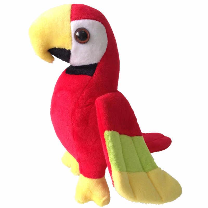 لطيف الببغاء ألعاب من القطيفة 20 سنتيمتر الطيور الملونة محشوة جميل الحيوان أفخم ريو ماكاو الببغاوات الاطفال الطفل الدمى هدية