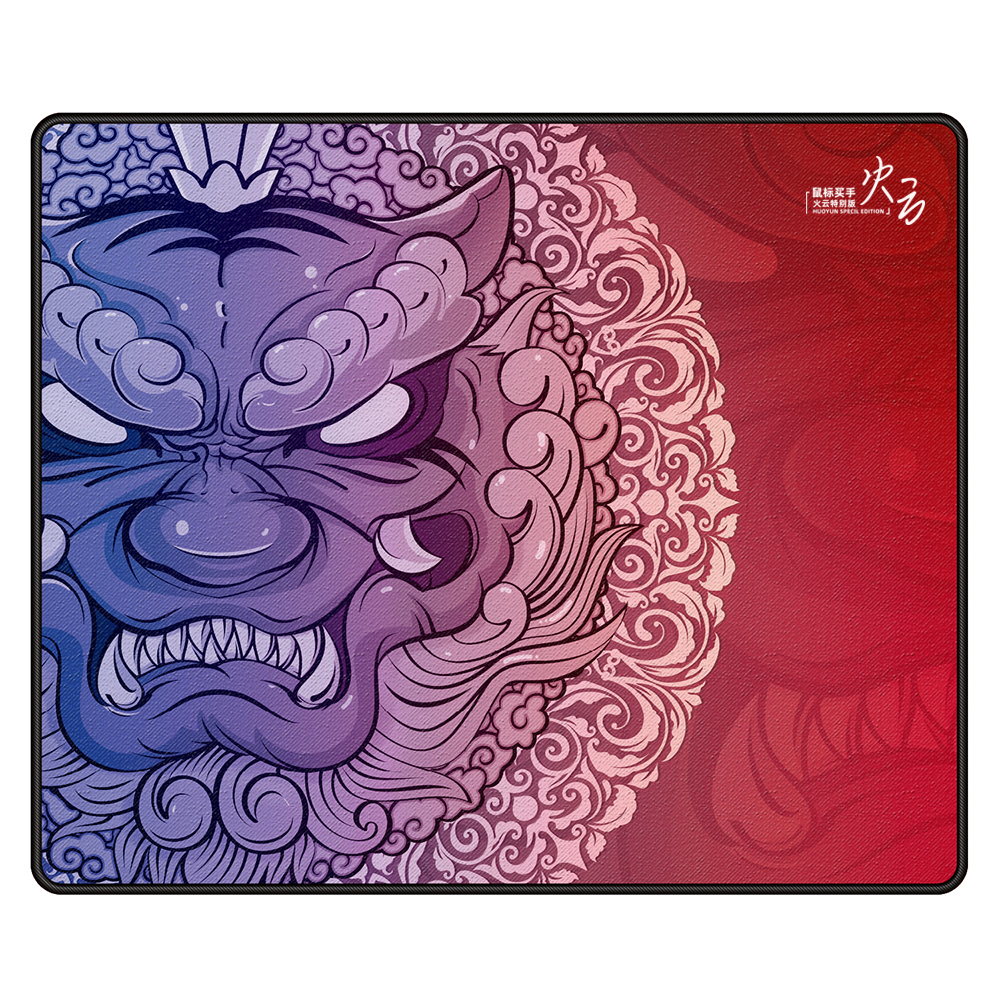 Esports Tiger Gaming Mouse Pads For Gamer Smooth Flexible Washable LongTeng Huoyun Red QinSui 2 S Hemming High Quality