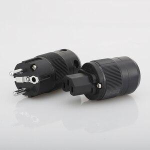 Image 4 - VB0109 High End Rhodium Plated EUR Schuko EU Power Plug & IEC Connector plug