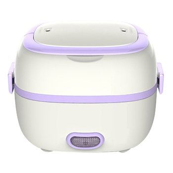 1L Multi-functional Electric Lunch Box 110/220V/Car EU/US Plug Food-Grade Mini Food Container Food Warmer For Dinnerware Sets 1 5l 110 220v portable electric lunch box food grade bento lunch box heating food container 2 in 1 food warmer eu us car plug