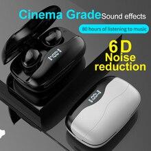 הפחתת רעש אוזניות אלחוטי Bluetooth ספורט אוזניות מגע בקרת מוסיקה Earbud LED כוח תצוגה עם 1200mAh טעינת תיבה