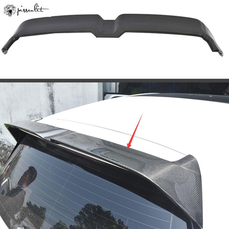 Спойлер для GOLF MK7 MK7.5 2014-2018 GOLF 7 GOLF 7,5, спойлер из АБС-пластика для автомобильного заднего крыла, задний спойлер с узором из углерода