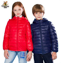 Осень-зима 2020, детские пуховики с капюшоном для девочек, яркие цвета, теплые детские пуховики для мальчиков, яркая верхняя одежда