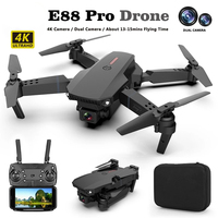 2021 neue E88Pro Drone 4k Profesional Gps Hd 4k Rc Flugzeug Dual-Kamera Breite-Winkel Kopf fern Quadcopter Flugzeug Spielzeug Hubschrauber