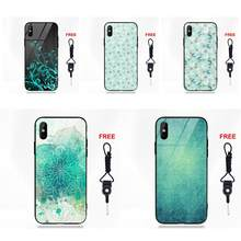 Mint Sky Wolken Mandala Bloem Voor Huawei Honor 7X P20 Lite Mate 10 Pro Redmi 5 Note 5A 6 Voor galaxy S8 S9 Plus(China)