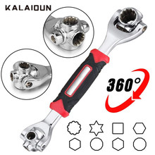 KALAIDUN Wrench Koppel Keys Set Universele Sleutel Ratchet Multitul Spanner 48 In 1 Handgereedschap Spline Bouten Torx Meubels Auto reparatie(China)