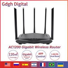 Беспроводной маршрутизатор GLC11 Gigabit AC1200 с двухдиапазонным Wifi, повторяющийся с антеннами с высоким коэффициентом усиления 5 * 6dBi, более широко...