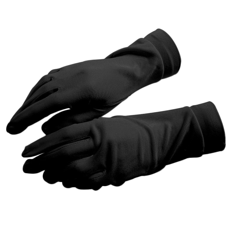 Real Silk Gloves for Women's Spring Summer Gloves Soft Silky Female Sunproof Gloves Ladies Mittens Anti-UV Solid Color