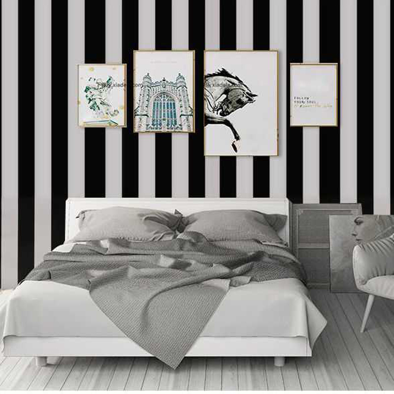 Black White Stripes Self Adhesive Pvc Waterproof Washable Wallpaper Bedroom Living Romm Vinyl Contact Paper Furniture Sticker Wallpapers Aliexpress