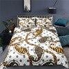 Luxus 3D Kette Leopard Print Home Living Komfortable Bettbezug-set Kissenbezug Kid Bettw��sche Set K��nigin und K��nig EU/US/AU/UK