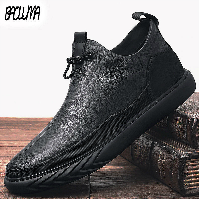 Fashion New Men Ankle Boots Plush Keep Super Warm Winter Men's Boots Rubber Plush Snow Boots Waterproof Male Basic Work Shoes