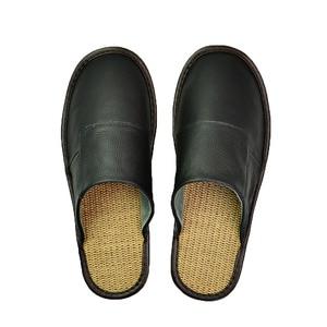 Image 3 - אמיתי פרה עור נעלי בית מקורה זוג החלקה גברים נשים בית אופנה מזדמן אחת נעלי PVC רך סוליות אביב קיץ 507