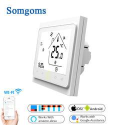 WiFi умный термостат с сенсорным управлением регулятор температуры для воды/Электрический пол Отопление воды/газовый котел Tuya приложение