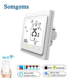 WiFi Smart Touch Thermostat Temperatur Controller für Wasser/Elektrische boden Heizung Wasser/Gas Kessel Tuya APP Fernbedienung