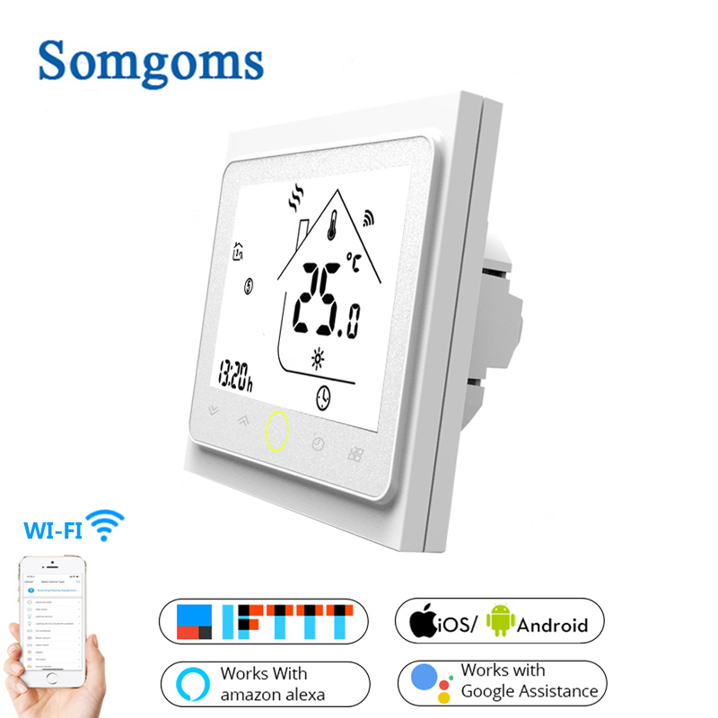 WiFi Smart Touch Thermostat Temperature Controller For Water/Electric Floor Heating Water/Gas Boiler Tuya APP Remote Control