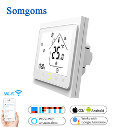 Wifi inteligente toque termostato controlador de temperatura para água/piso elétrico aquecimento água/gás caldeira tuya app controle remoto
