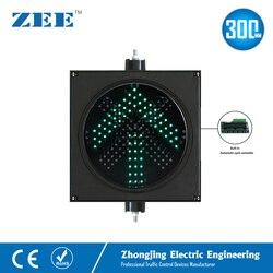 Semáforo LED de 12 pulgadas y 300mm para estacionamiento, punto de cruz roja y flecha verde, estación de peaje, luz de señal de tráfico de entrada y salida