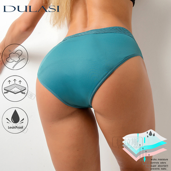 Leakproof Menstrual Panties For Women Period Pants Sexy Hollow Out Underwear 4 Layers Physiological Underpants Dropshipping 1