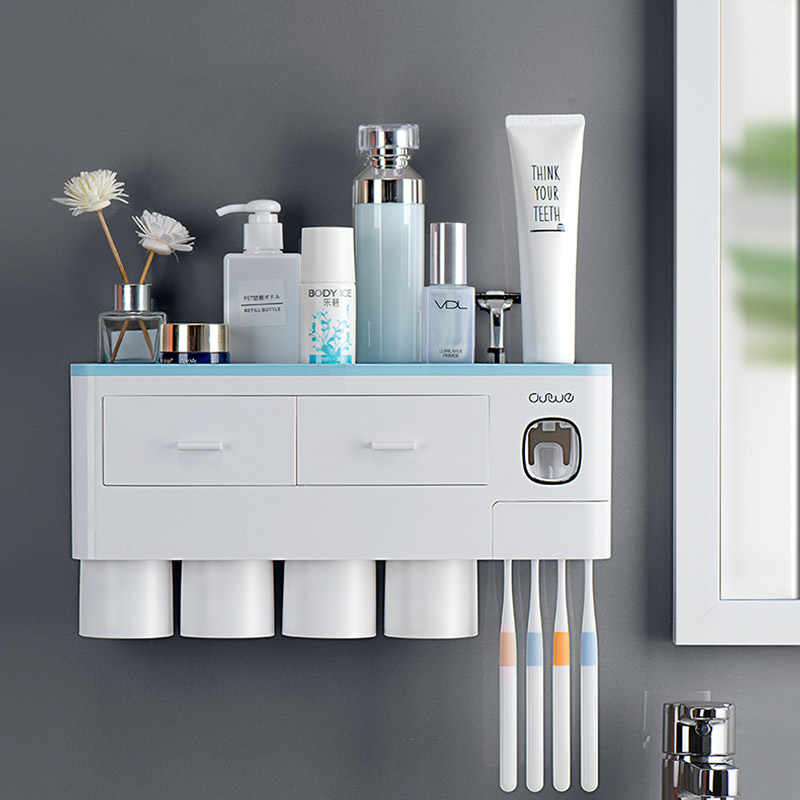 Drawer Toothbrush Holder Double Layer