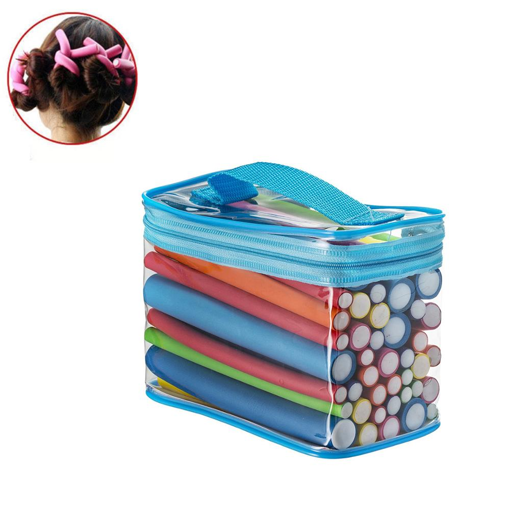 42pcs 7 Style Hair Curler Flexi Rods Soft Foam Bendy Hair Roller Plastic Hair Curling Magic DIY Styling Stick Tool For Hairstyle