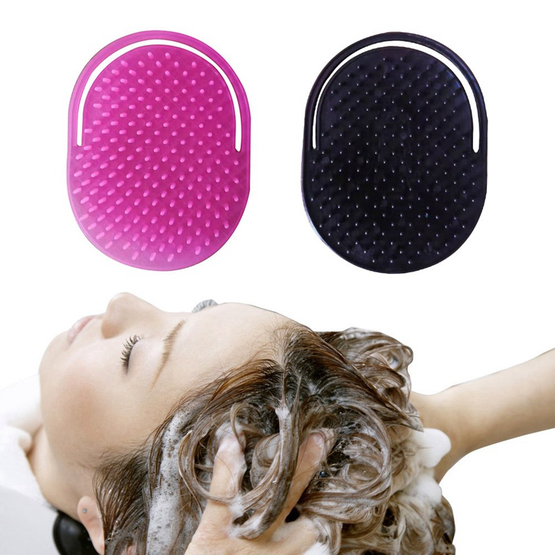 Buy 1 PCS Shampoo Comb Pocket Men Beard Mustache Palm Scalp Massage Black Hair Care Travel Portable Hair Comb Brush Styling Tools for only 0.76 USD