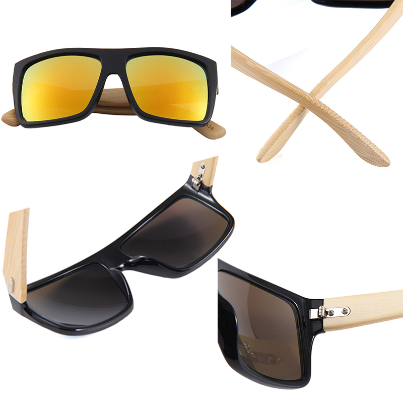 Bamboo Sunglasses Men Women Travel Sun Glasses Vintage Bamboo Leg Eyeglasses Fashion Brand Design Square Glasses Driving Goggles in Men 39 s Sunglasses from Apparel Accessories