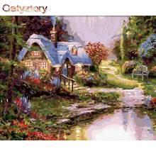 Gatyztory diy Раскраска по номерам садовая для взрослых фоторамки