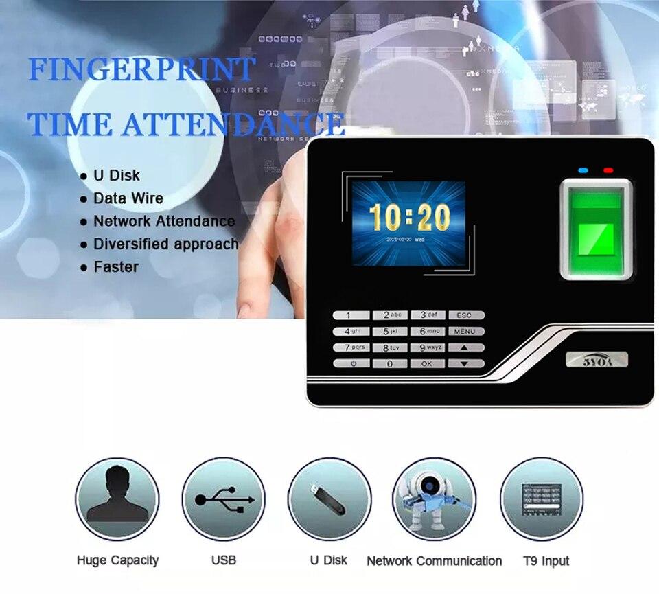 He84a29d2b1514e82b04a01227ee3181cJ Attendance System Fingerprint TCPIP USB Password Access Control Office Time Clock Employee Recorder Device Biometric Machine