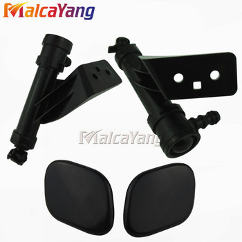 Left and Right side Front Headlight Washer Lift Cylinder Spray Nozzle Jet And Cover Cap For Hyundai Santa Fe IX45 image