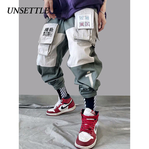 Image 3 - 2020 Japanse Kleur Zwart Zakken Cargo Broek Mannen Hip Hop Mannelijke Tatical Enkel Broek Joggers Casual Streetwear Broek