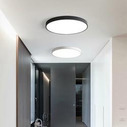 Détecteur De mouvement plafond moderne à LEDs lumières pour salon chambre 20cm 30cm Ultra mince encastré plafonniers Luzes De Teto