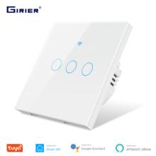 Tuya Smart Wifi interrupteur tactile, fil neutre requis interrupteur mural ue 1 2 3 Gang, travailler avec Alexa Google Home pas de Hub requis