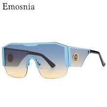Gafas de sol cuadradas de gran tamaño para hombre y mujer, anteojos de sol con marco grande, de una pieza, con gradiente para conducir, Unisex, UV400, novedad de 2021