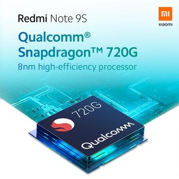 Global Version Xiaomi Redmi Note 9S 6GB 128GB Smartphone Snapdragon 720G Octa core 5020 mAh 48MP Quad Camera Note 9 S 8