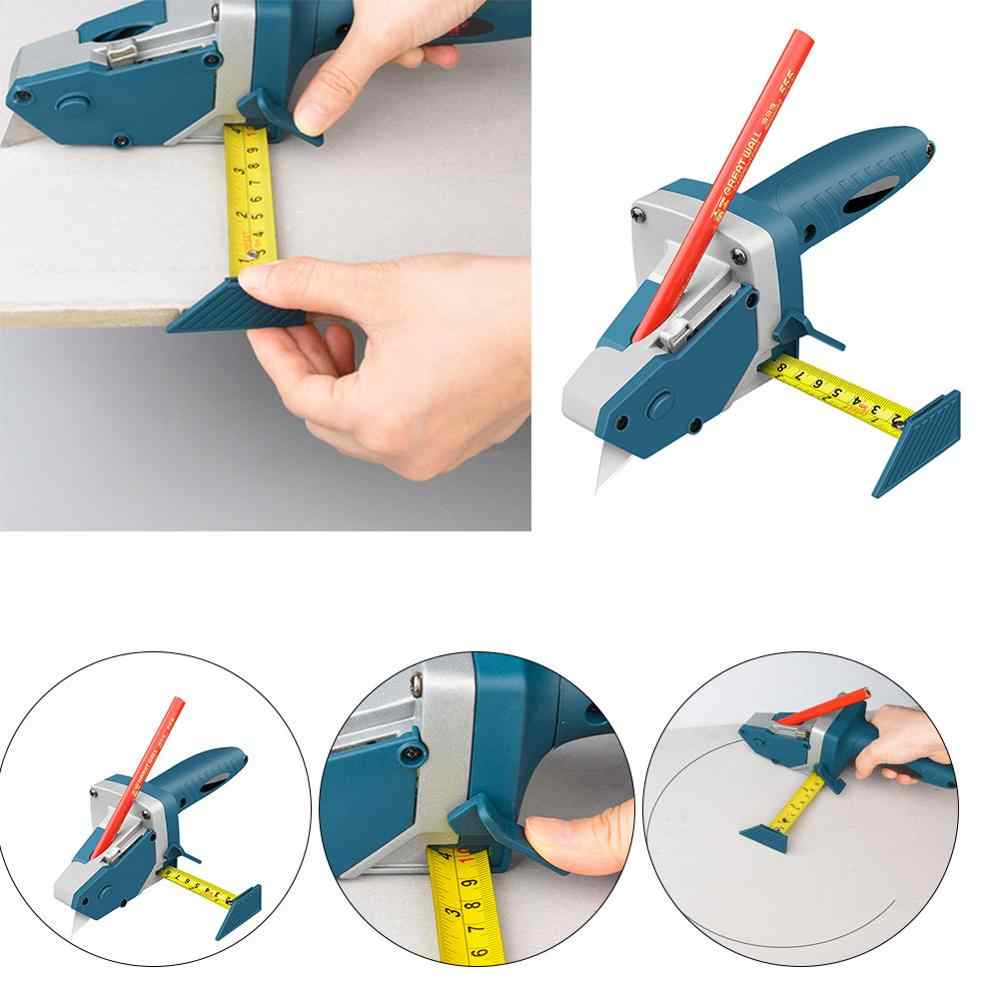 Woodwork Gypsum Board Cutting Tool Kit Scriber Drywall Artifact with Scale Set
