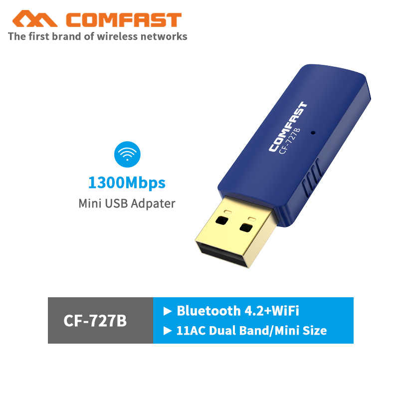 1300Mbps Mini USB Wifi Adapter Dual Band 2,4G/5,8G Wifi Netzwerk Karte antenne Drahtlose AC wifi adapter für Windows 7/8/10 Mac OS