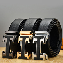 New Arrival Black Designer Men's Belts Genuine Leat