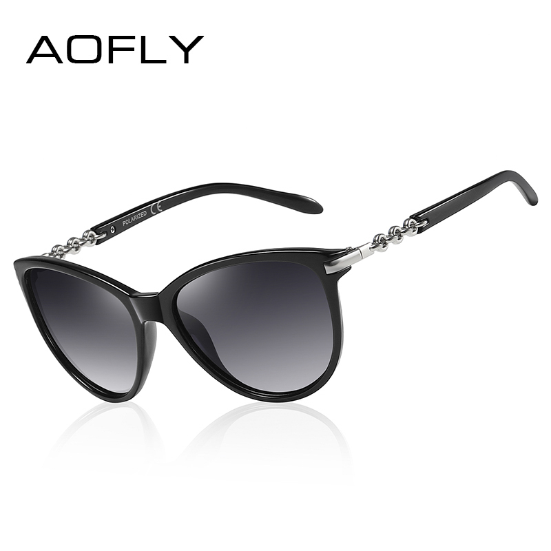 AOFLY BRAND DESIGN Cat Eye Polarized Sunglasses Women Polarized Sun Glasses Female Gradient Shades Oculos Feminino