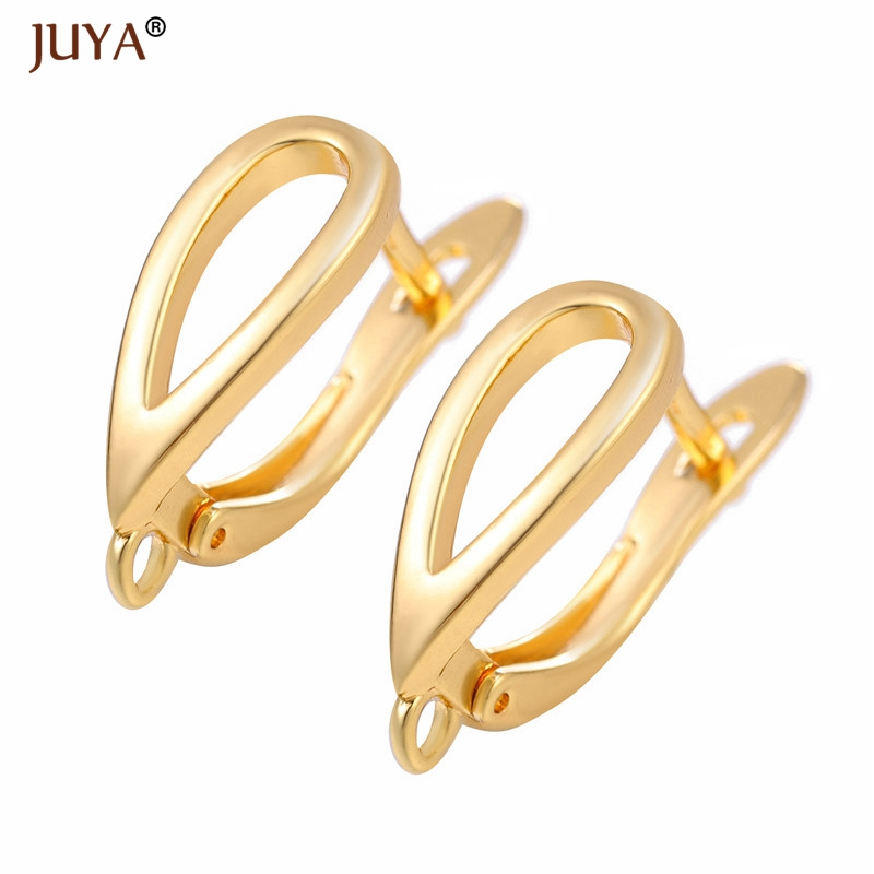 JUYA New Creative Earrings Hook Clasps Gold Color High Quality Copper Metal Earring Findings For DIY Women Jewelry Making