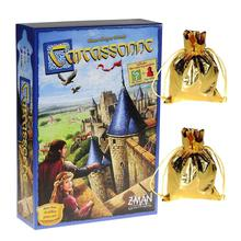 Carcassonne Board Game Tarot Cards Durable Sturdy Party Playing Card For Player Over 7 Years Old Winter Edition Deck Table Games