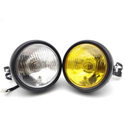 Uniwersalny uchwyt motocyklowy reflektor halogenowy Head Light dla yamaha raptor 700 xvs 950 jog rr r1 2007 r6 2005 dragstar 1100 na