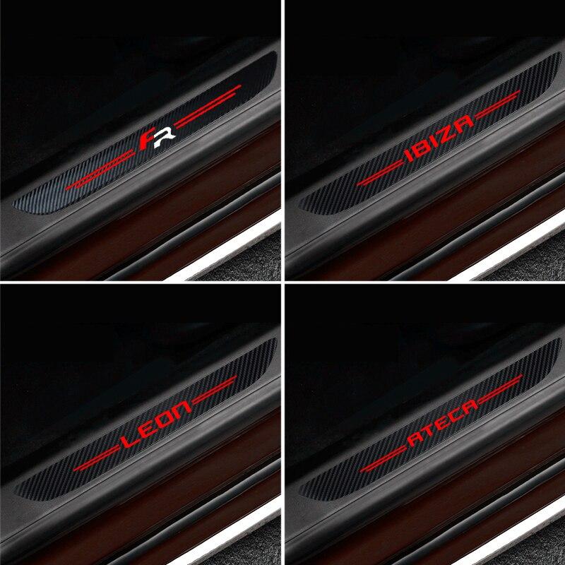 4 Stuks Waterdichte Carbon Sticker Beschermende Voor Seat Fr + Leon Ibiza Ateca Auto-accessoires Automobiles