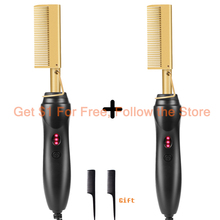 Comb Straight-Press-Comb Electric High-Flat-Irons-Ceramic for Women with Anti-Scald Mini