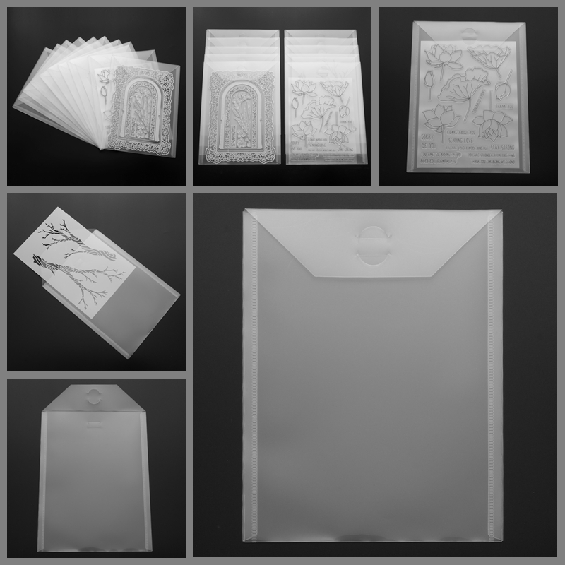 10-piece Set 7*9.4inch Clear Portable Transparent Plastic Storage Bag Durable Craft Scrapbooking Dies & Stamp New Card Cover Hot