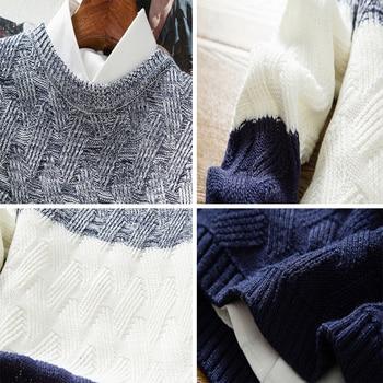 DIMUSI Autumn Winter Men s Sweaters Fashion Mens O Neck Slim Fit Pullover Sweater Man