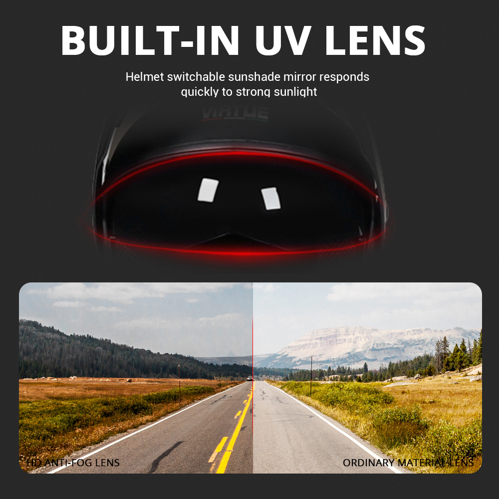 Image 4 - 2019 New Flip Up Motorcycle Helmet Motorbike Modular Dual Lens  Motocross Moto Helmet Crash Full Face Helmets Casco Moto  Casque#Helmets   -